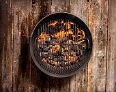 Charcoal BBQ on a Wood Deck