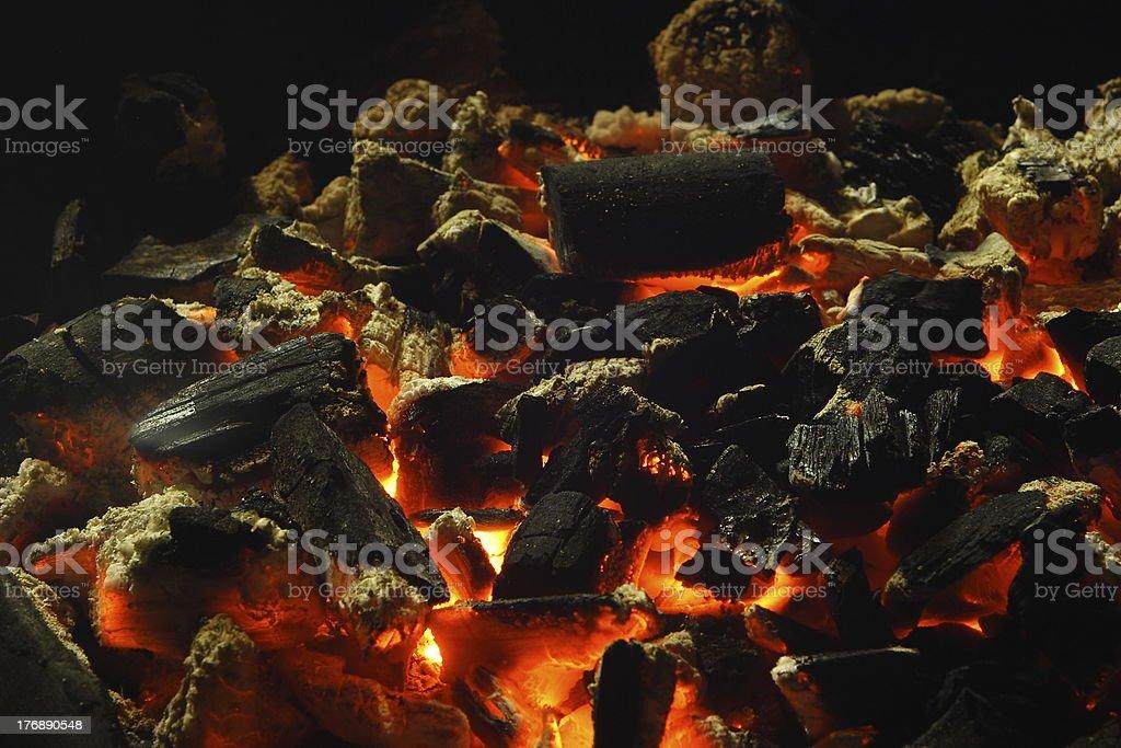 Charcoal burning royalty-free stock photo