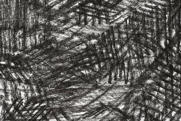 charcoal drawing on paper texture background - charcoal drawing stock photos and pictures