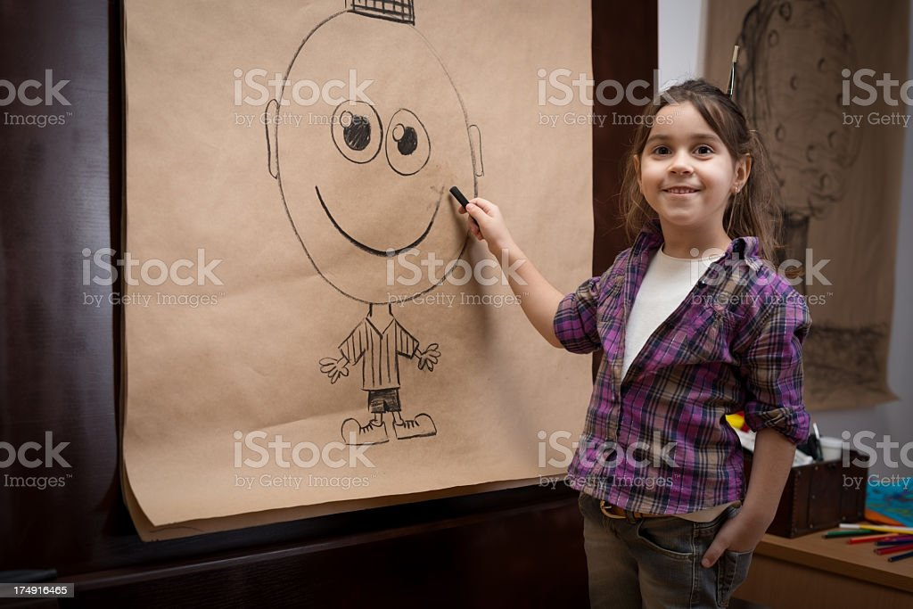 Charcoal drawing royalty-free stock photo