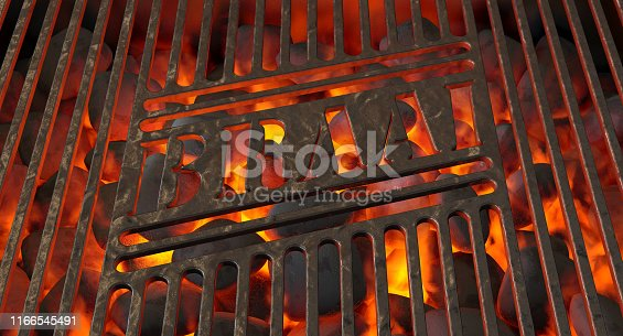 istock Charcoal Fire And Braai Grid 1166545491