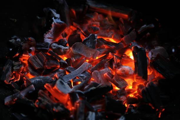 Kohle-Feuer – Foto