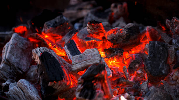 charcoal fire - burning stock pictures, royalty-free photos & images