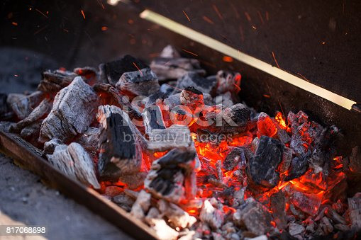 istock Charcoal fire 817068698