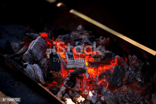 istock Charcoal fire 817068702