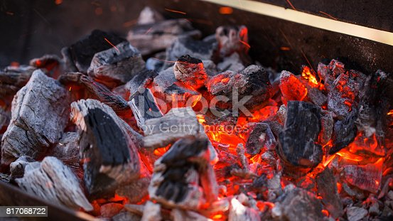istock Charcoal fire 817068722