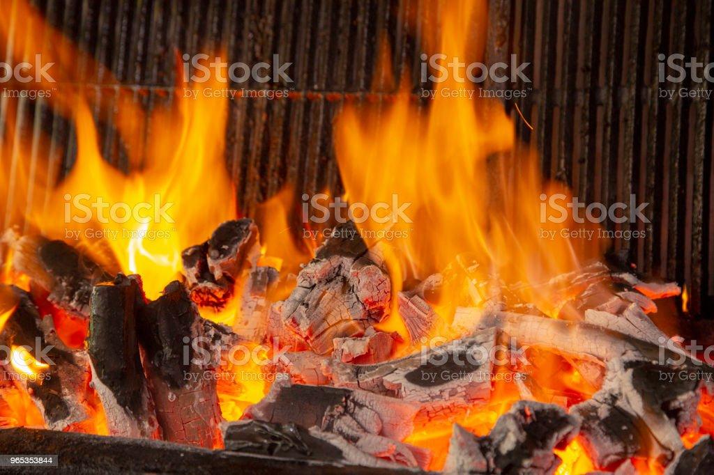 木炭火 - 免版稅俯視圖庫照片