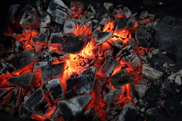 charcoal for barbecue - coal stock pictures, royalty-free photos & images
