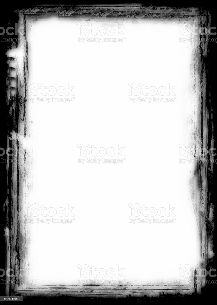 Charcoal Frame royalty-free stock photo