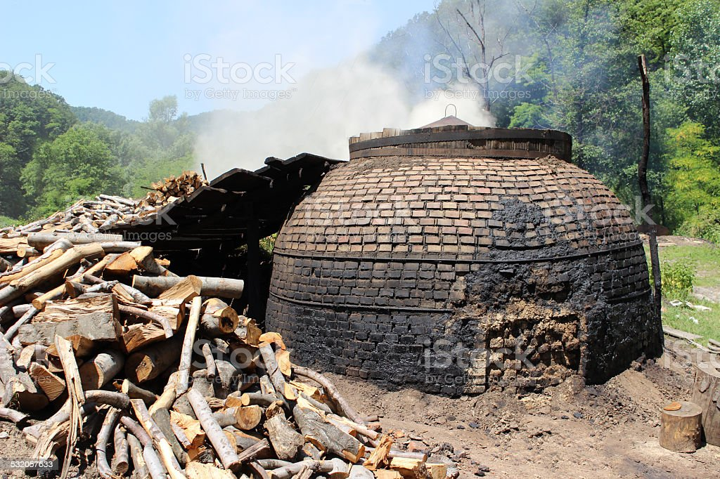 Charcoal furnace stock photo