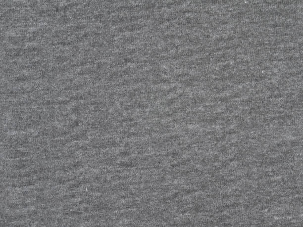 Charcoal heather gray t-shirt heavy cotton knitted fabric texture swatch Charcoal heather gray t-shirt heavy cotton knitted fabric texture swatch heather stock pictures, royalty-free photos & images