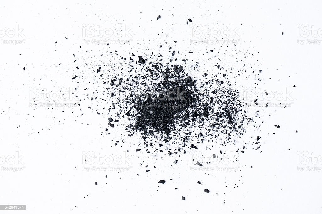 charcoal isolated on white background royalty-free stock photo