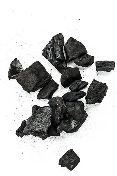 charcoal isolated - coal stock pictures, royalty-free photos & images