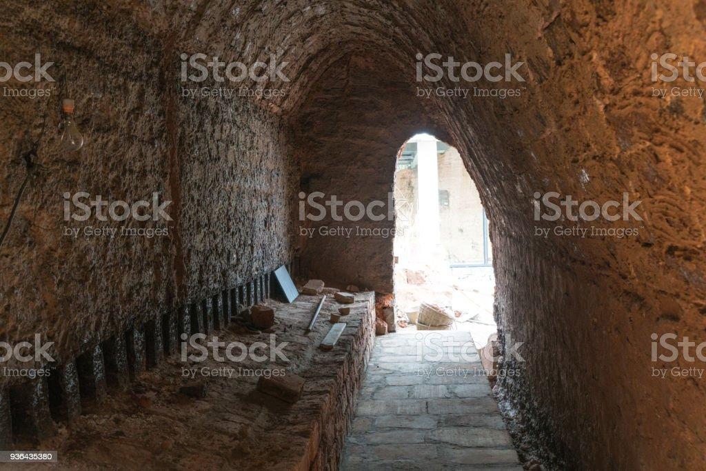 Charcoal kilns, brown rock cave,chongqing,china stock photo