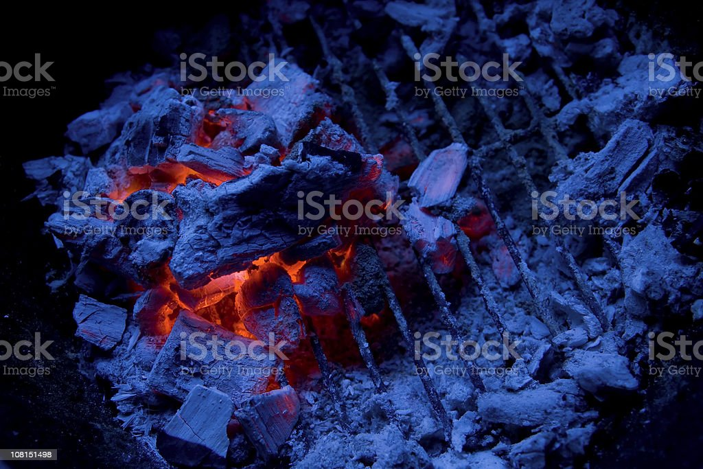 charcoal on a grill royalty-free stock photo