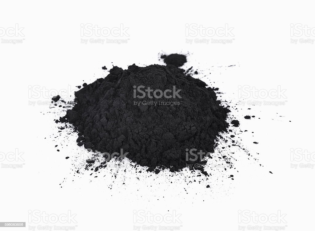 charcoal on a white background royalty-free stock photo