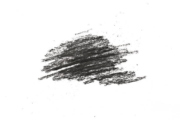 charcoal pencil scribble on white - charcoal drawing stock photos and pictures