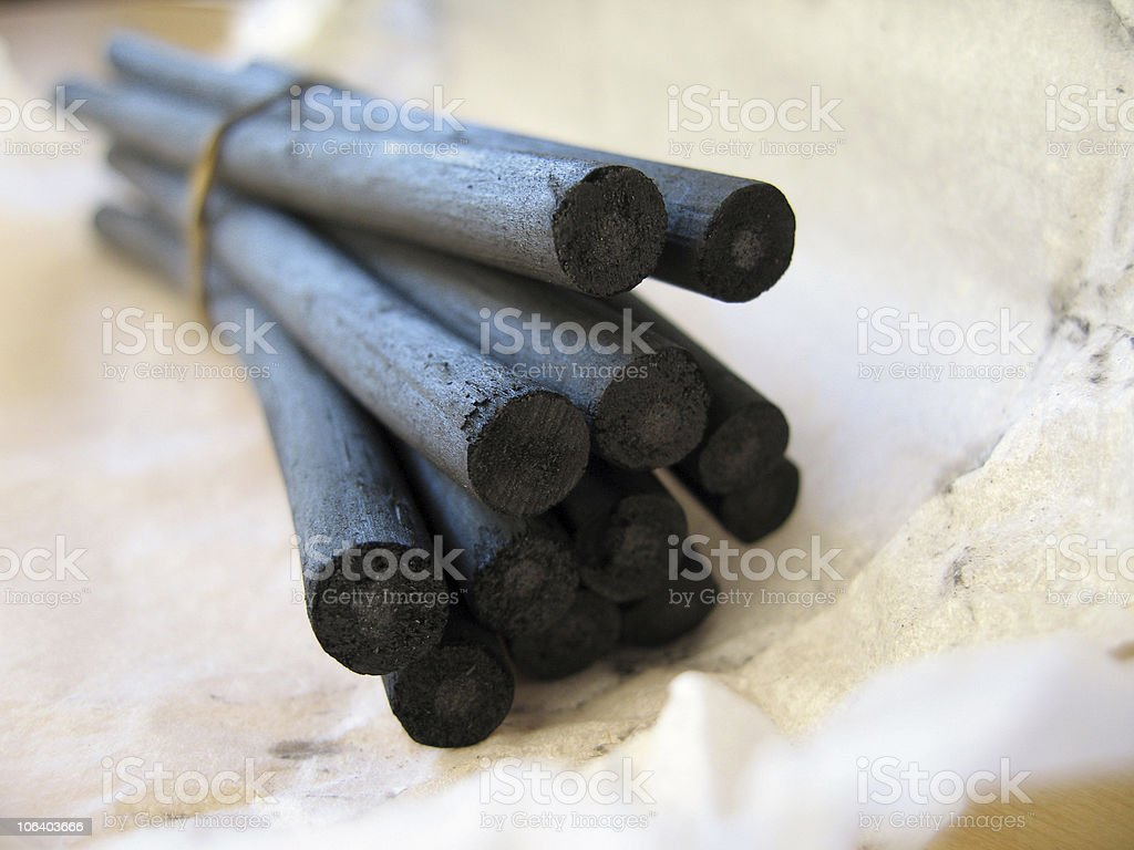 Charcoal Sticks 2 royalty-free stock photo