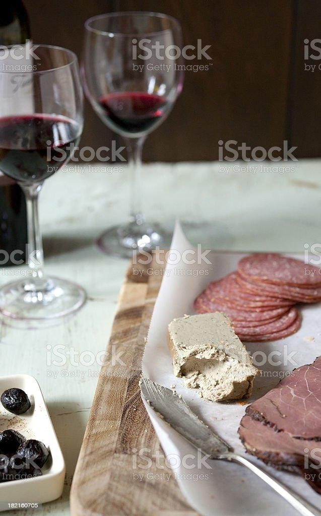 charcuterie plate stock photo