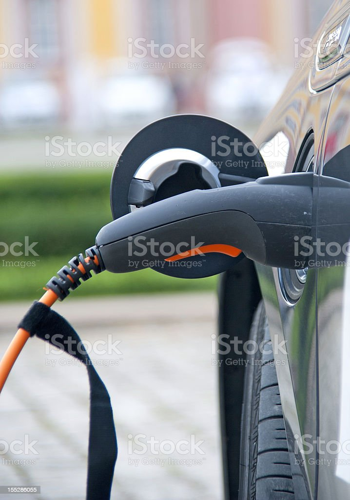 charge black electric car royalty-free stock photo