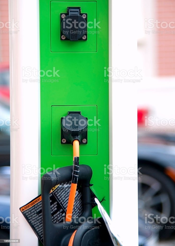 charge electric car - Ladestation royalty-free stock photo