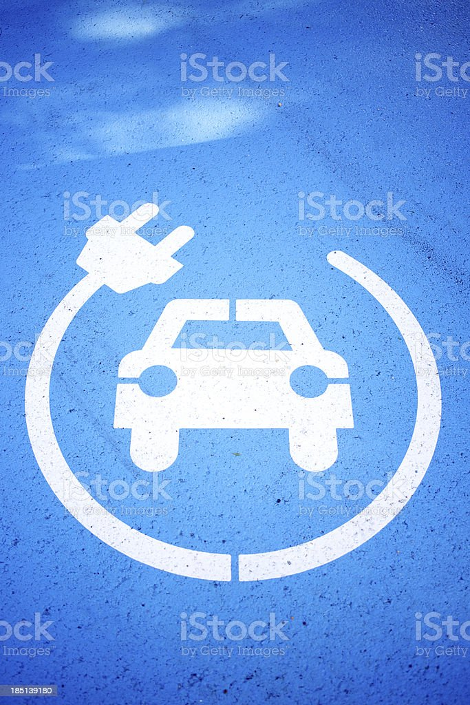 Charge your car here stock photo