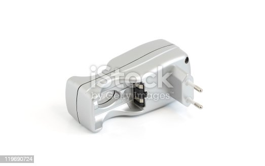 istock Charger for AA-battery 119690724