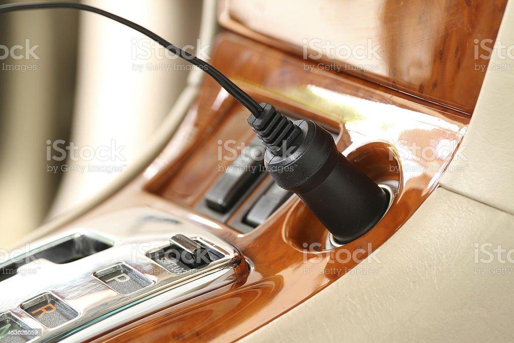 Charger plug stock photo