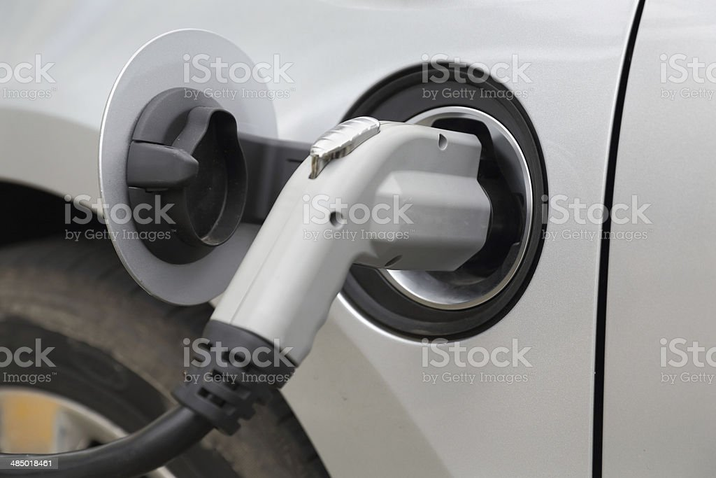 Charging an Electric Car royalty-free stock photo