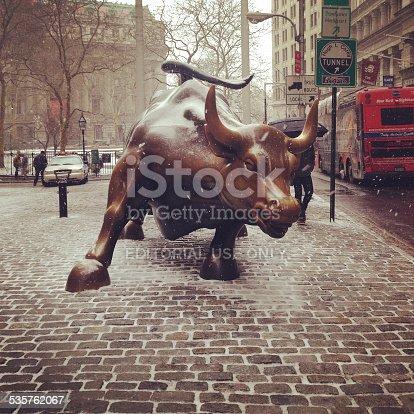 istock Charging Bull of Wall Street 535762067
