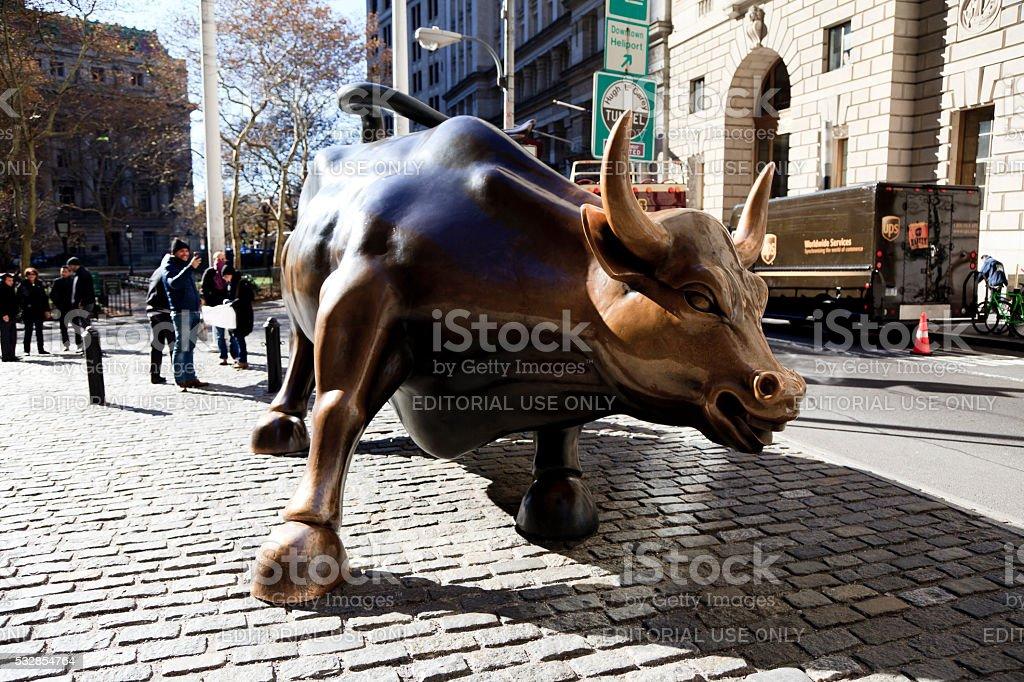 Charging Bull stock photo