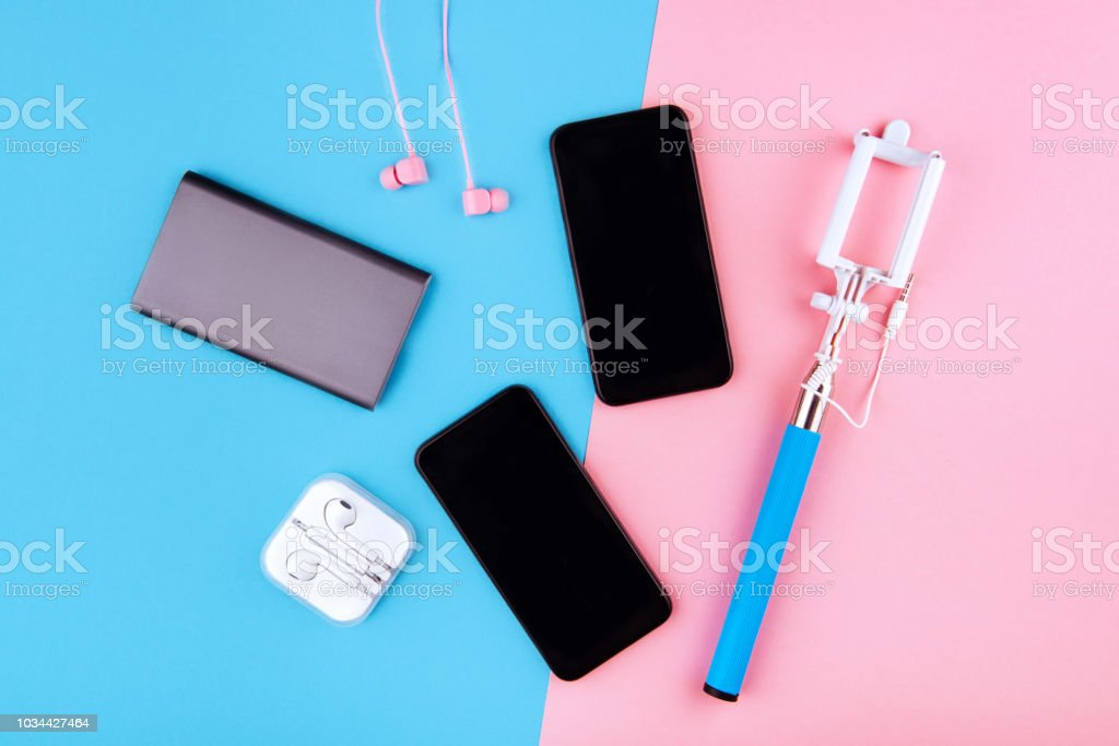 USB charging cables for smartphone and tablet stock photo