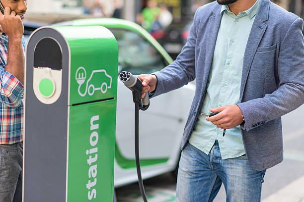 Recharge pour voiture électrique - Photo