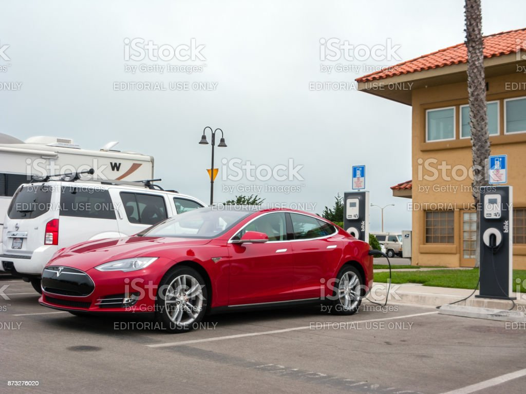 Charging Electrical Car stock photo