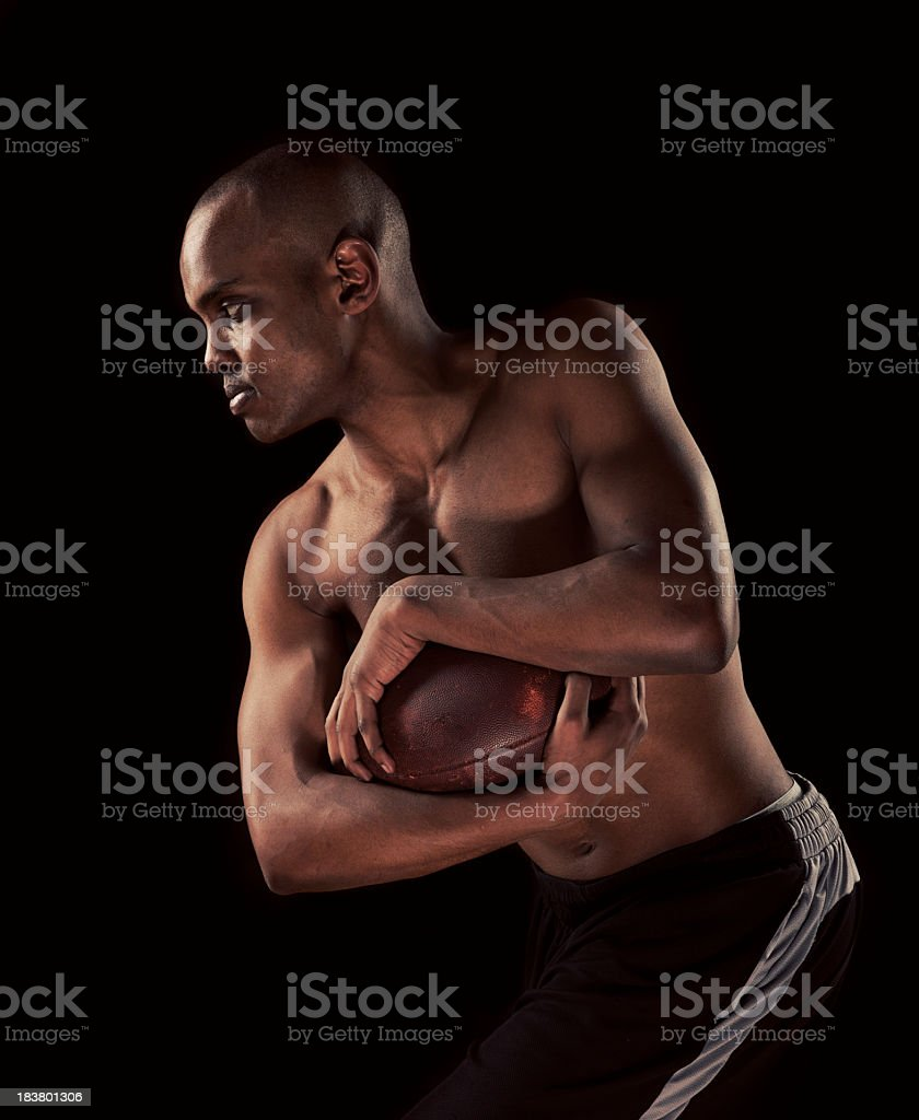 Charging Football Player royalty-free stock photo