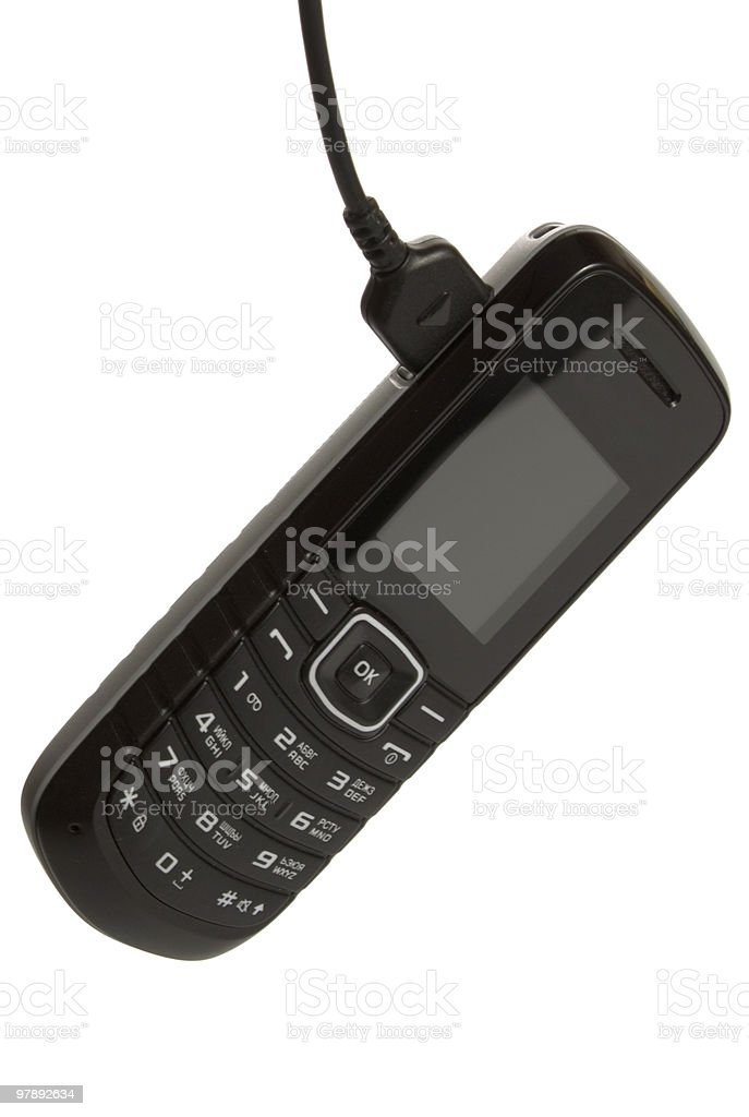 charging mobile phone royalty-free stock photo