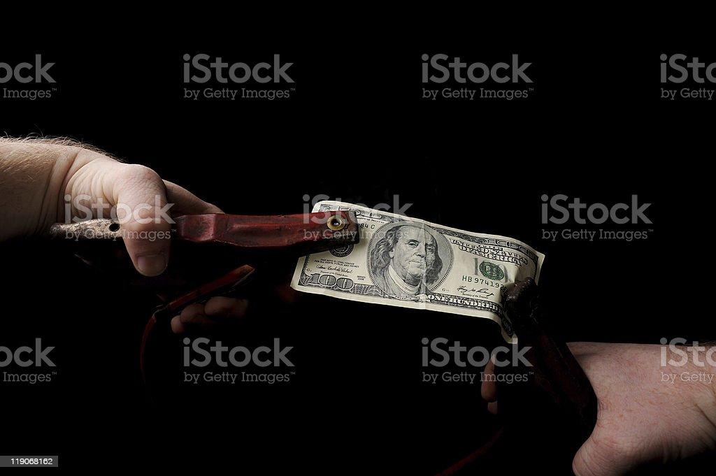 Charging Money stock photo