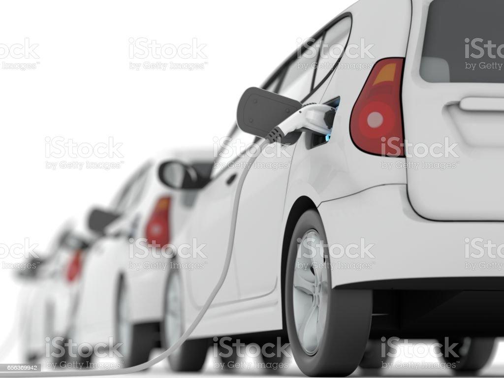 Laden von Elektroautos – Foto