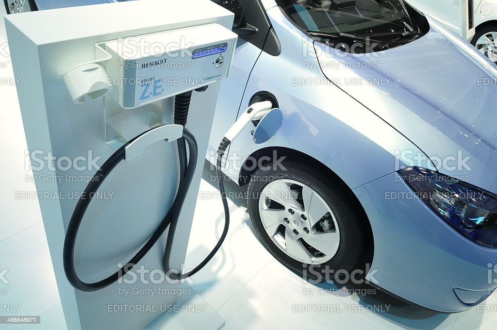 Charging Renault Fluence royalty-free stock photo