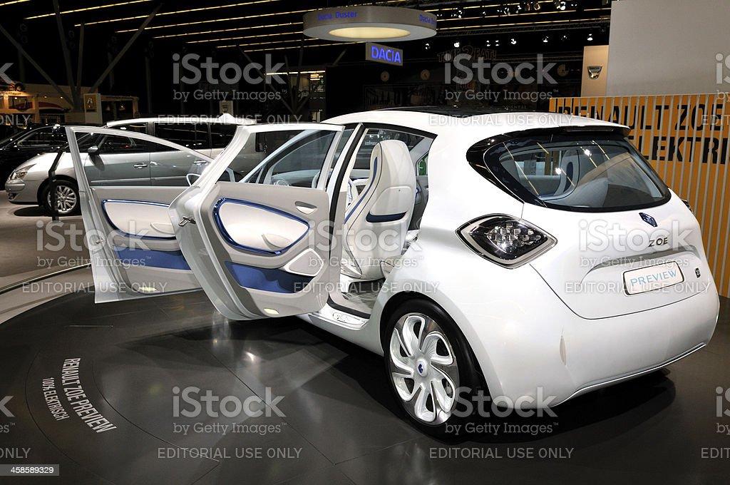 Charging Renault Zoe stock photo