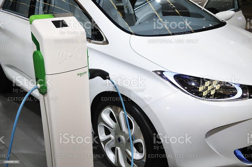Charging Renault Zoe royalty-free stock photo
