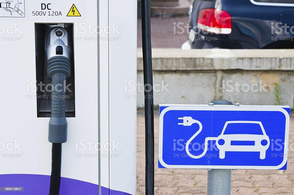 Ladestation für Elektroautos, Nahaufnahme – Foto
