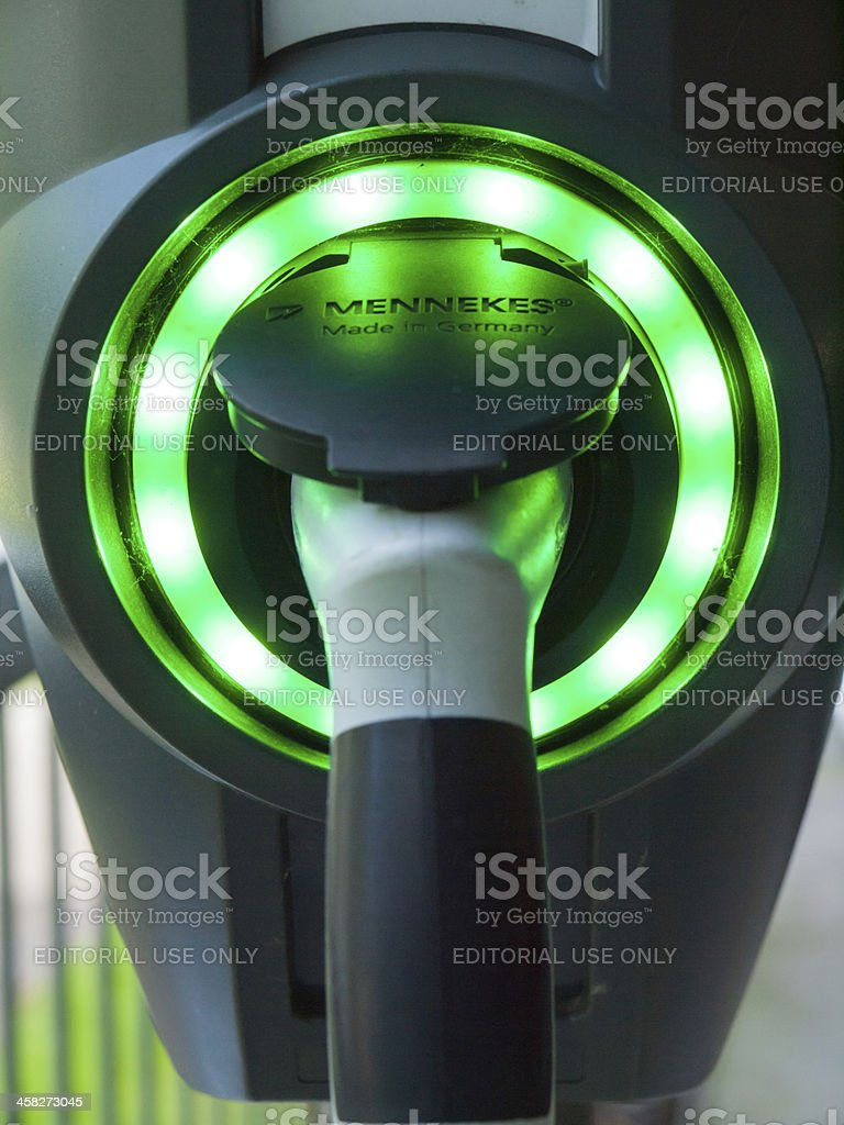 Charging station for electric cars royalty-free stock photo