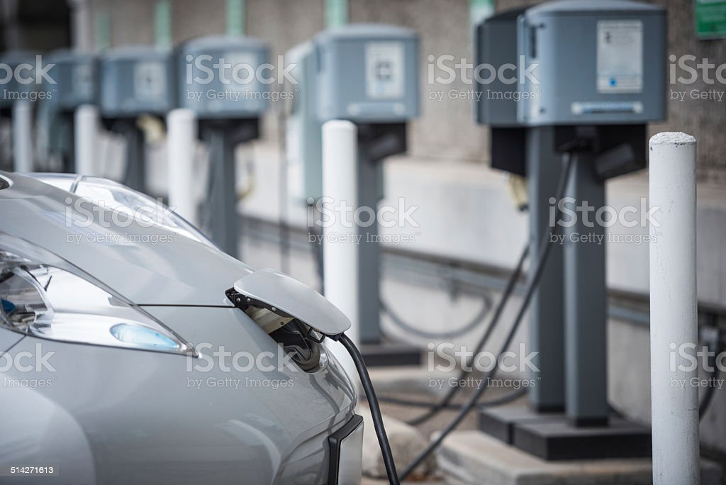 Charging station stock photo
