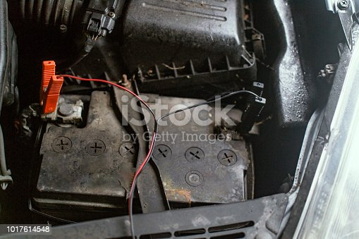 istock Charging the car battery 1017614548