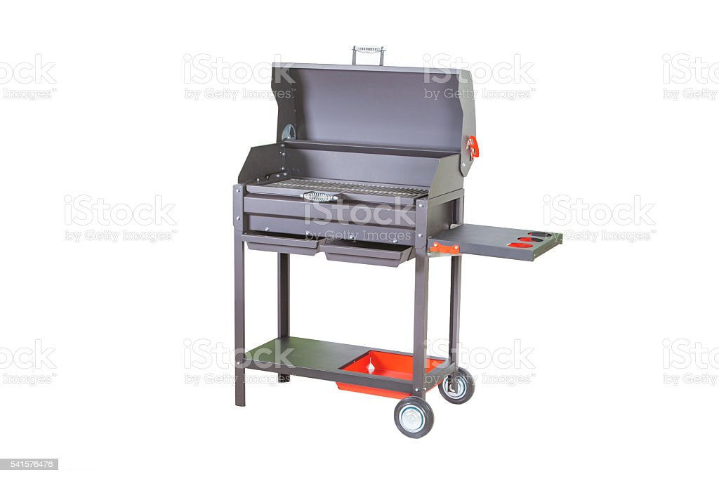 chargrill for barbecue or shish kebab isolated stock photo
