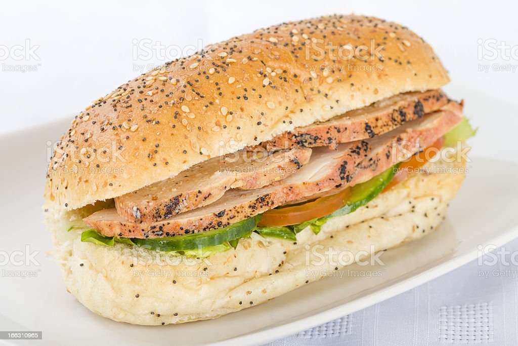 Chargrilled Chicken Sandwich stock photo