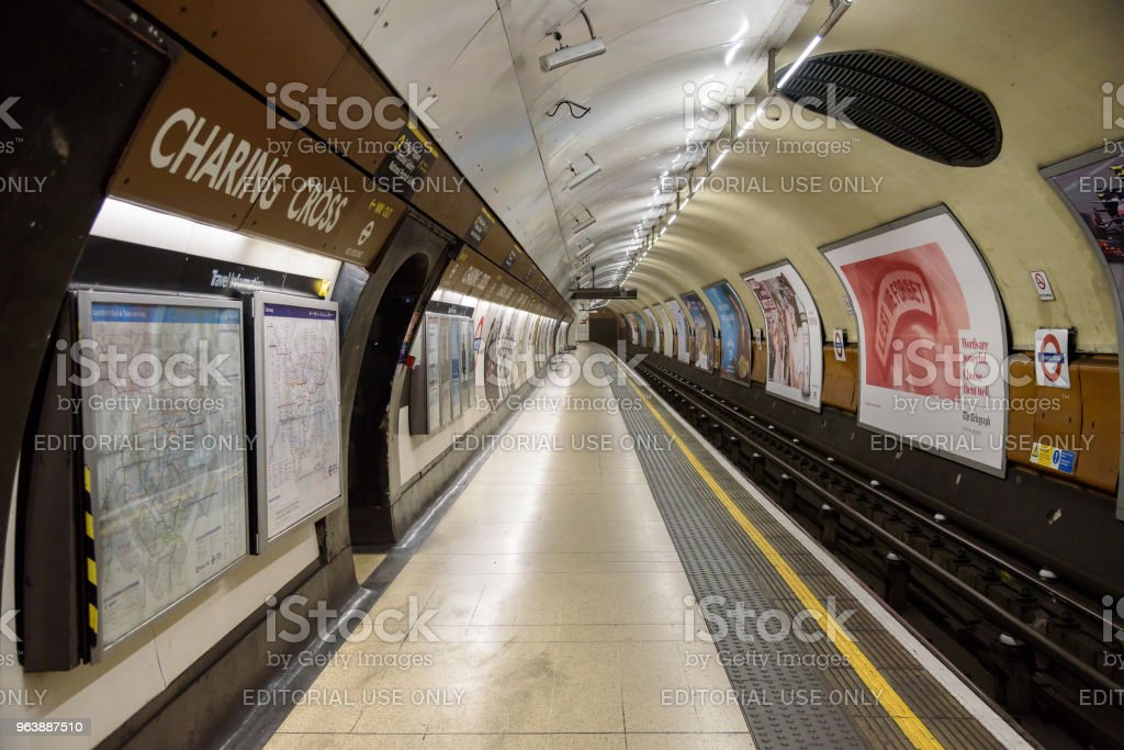 Charing Cross underground station in London - Royalty-free Architecture Stock Photo