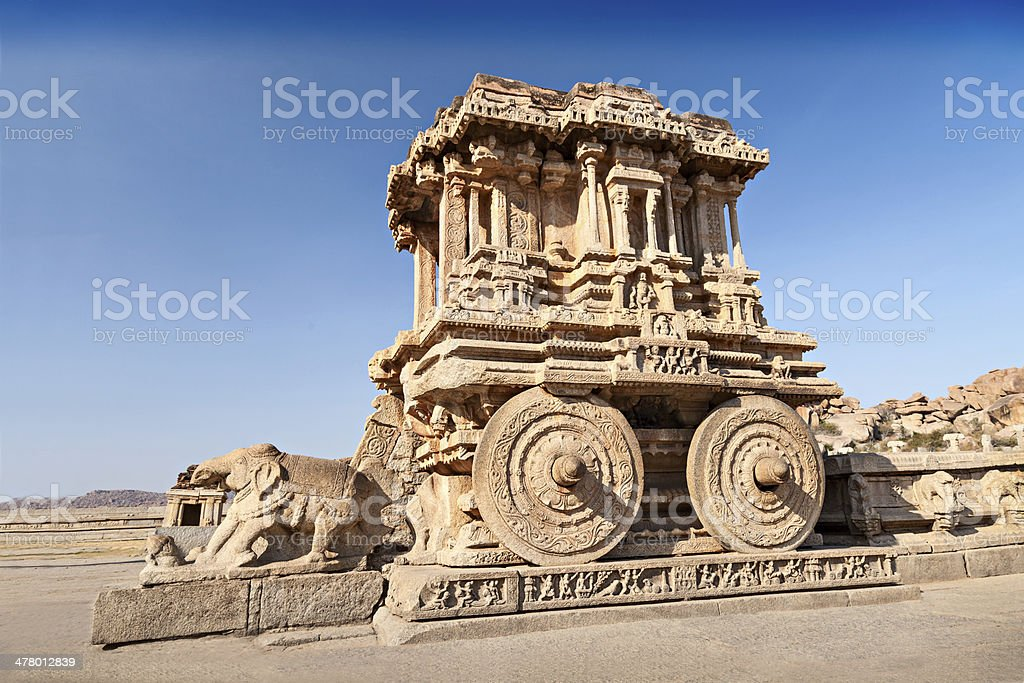 Chariot and Vittala temple stock photo