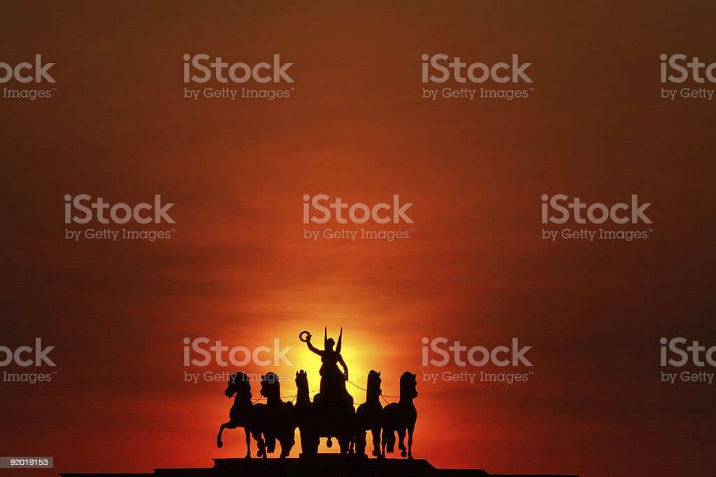Chariot of Glory stock photo
